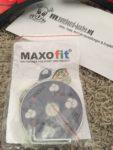 Die Bedienungsanleitung, CD und Werkzeug des Maxofit XL pro close in einem Zip-Beutel