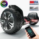 Produktbild - das Bluewheel Hoverboard mit 8,5 Zoll großen Felgen und Aluminium-Chassi